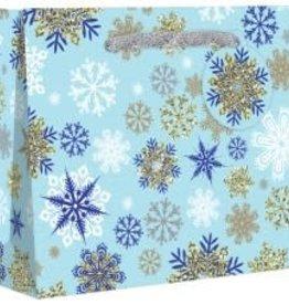 Gift Wrap: Snowflake Bag, 10x4x8
