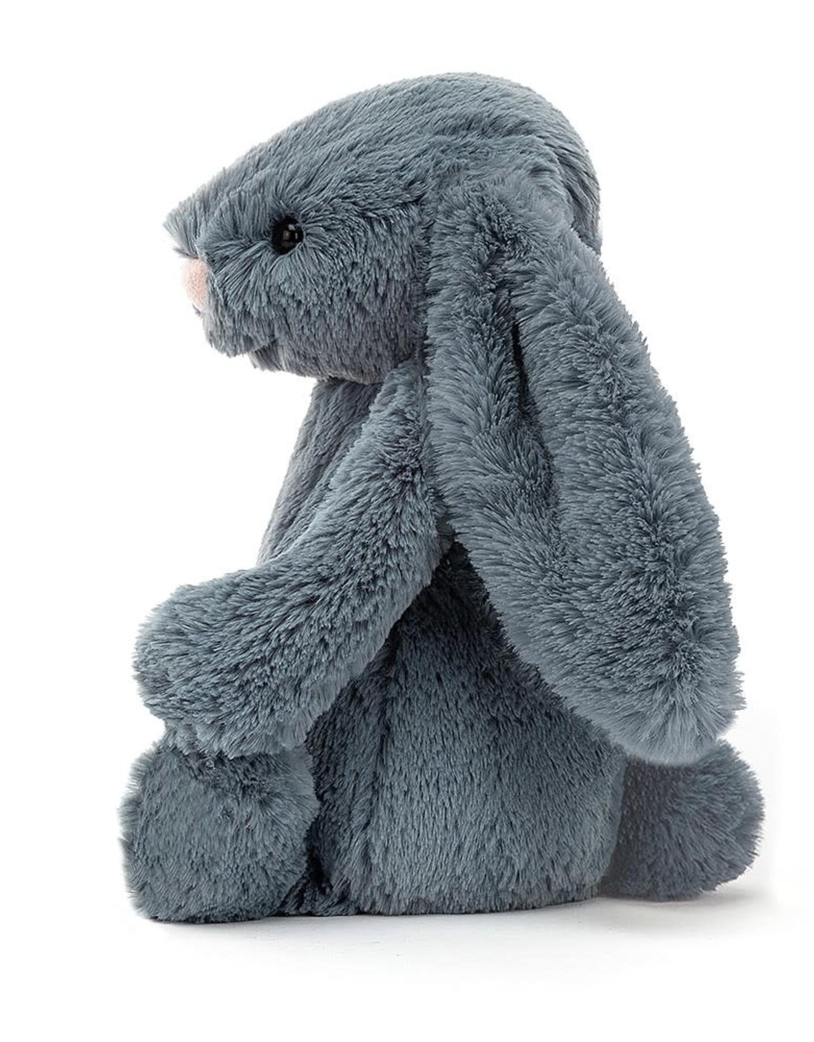 "Jellycat Bashful Dusky Blue Bunny: Medium 12"""