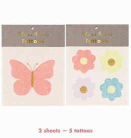 Meri Meri Tattoo: Floral Butterfly SM