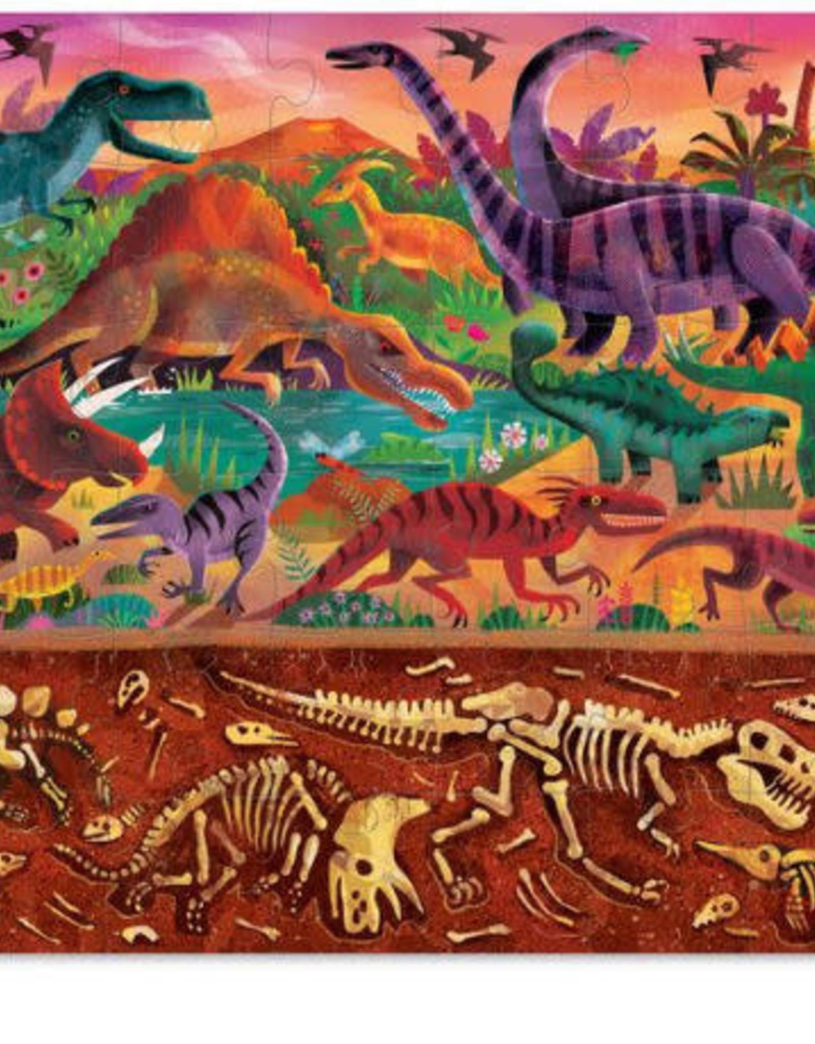 Crocodile Creek 48 pc Puzzle Above and Below: Dinosaur World