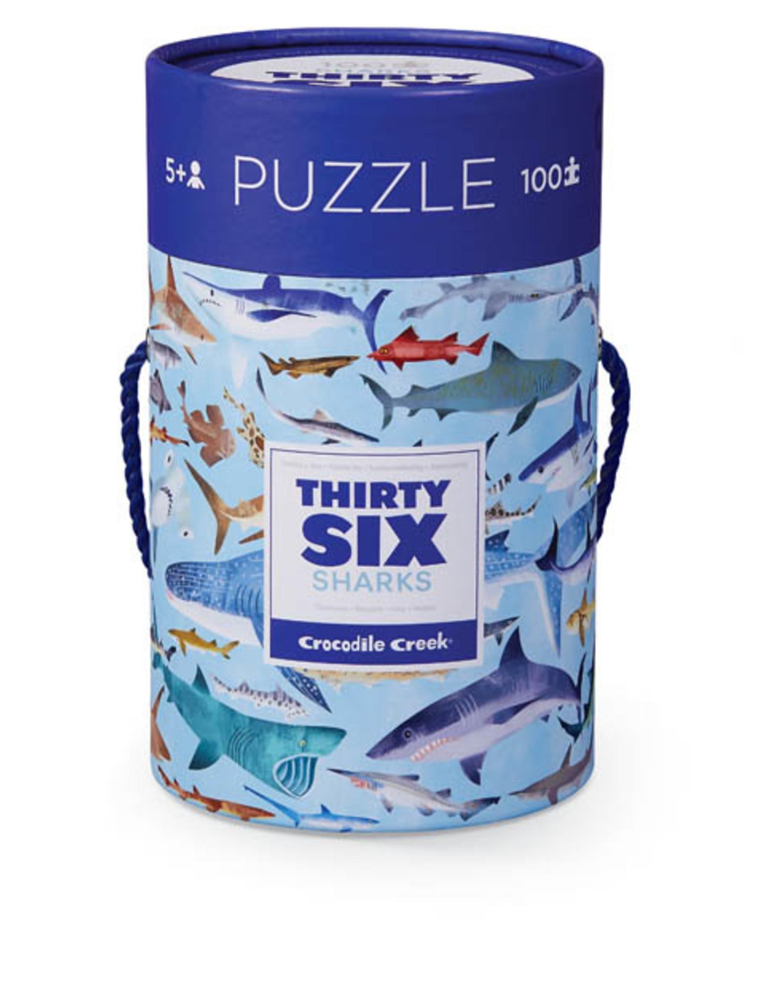 Crocodile Creek 100pc Puzzle: 36 Sharks