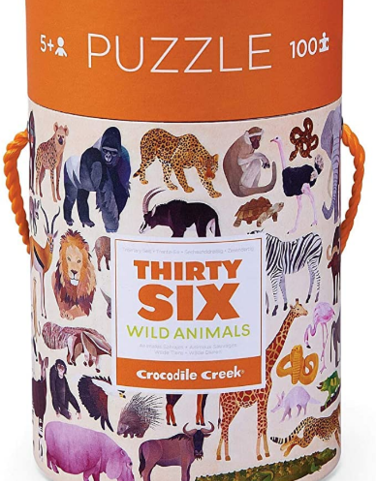 Crocodile Creek 100pc Puzzle: 36 Wild Animals