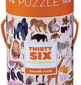 Crocodile Creek 100pc Puzzle: 36 Wild Animals