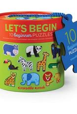 Crocodile Creek 2pc Puzzle: Let's Begin Jungle