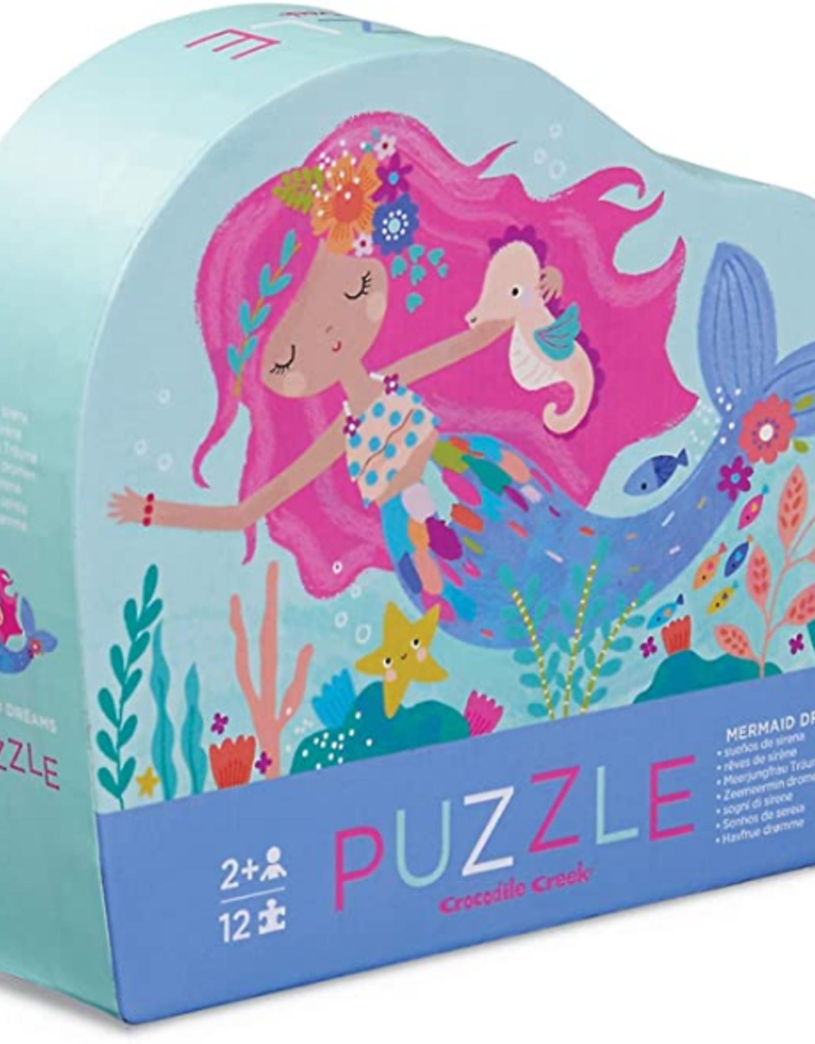 Crocodile Creek 12pc Mini Puzzle: Mermaid Dreams