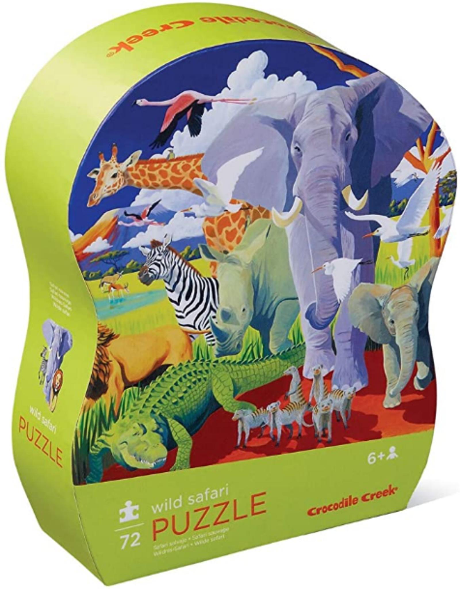 Crocodile Creek 72pc Puzzle: Wild Safari