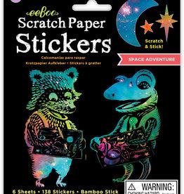 eeBoo Scratch Paper: Space Stickers