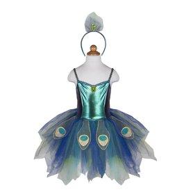 Creative Education Peacock Dress & Headband, Size 5-6