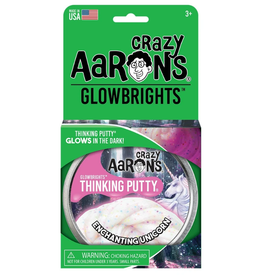 Crazy Aaron's Putty World Glow: Enchanting Unicorn 4""