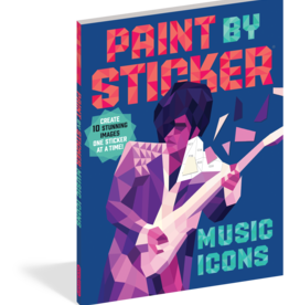 Workman Publishing Paint by Sticker: Music Icons