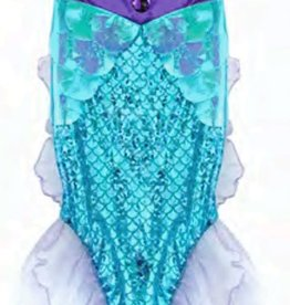 Creative Education Mermaid Glimmer Skirt w/Tiara, Lilac/Blue, Size 5-6