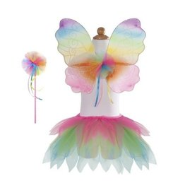 Creative Education Neon Rainbow Skirt,Wings, Wand Size 4-7
