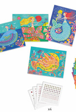 Djeco The Mermaids' Song Sticker and Jewel Mosaic