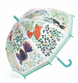 Djeco Umbrella: Clear Flowers and Birds