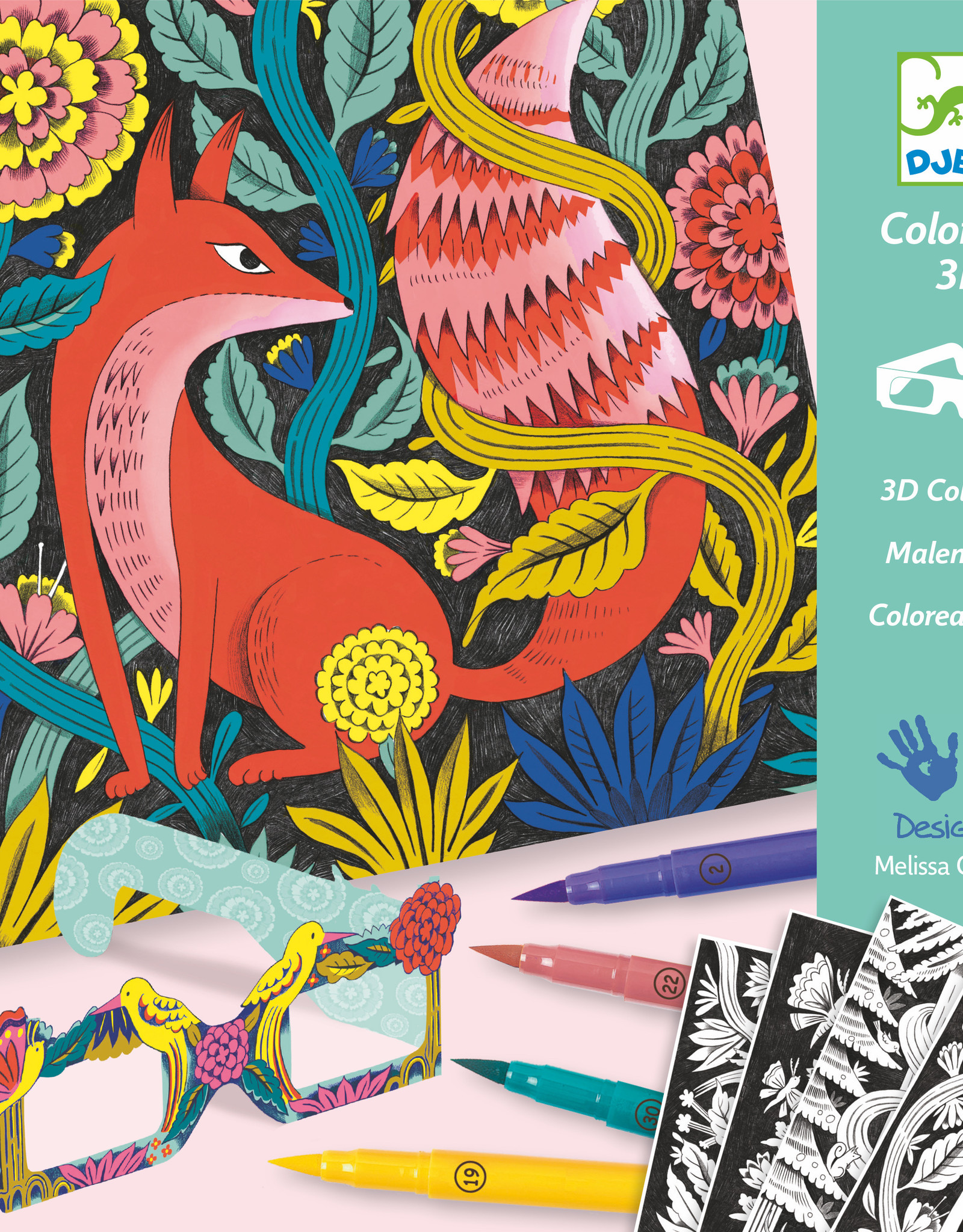 Djeco 3D Coloring: Fantasy Forest