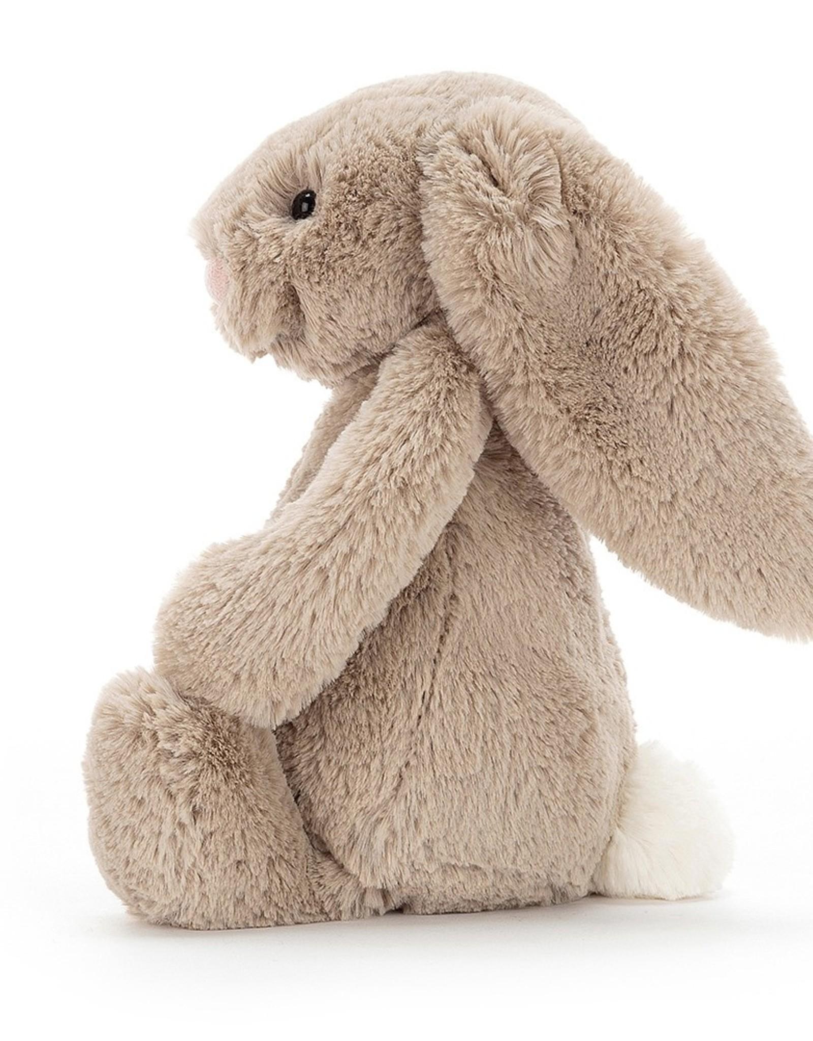 "Jellycat Bashful Beige Bunny: Small 7"""