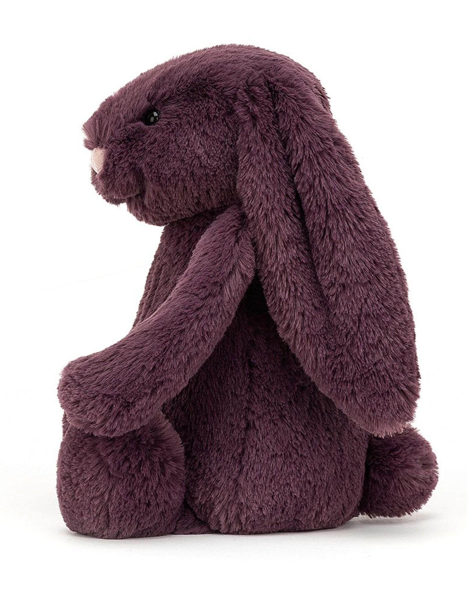 "Jellycat Bashful Plum Bunny: Small 7"""