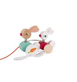Janod Zigolos Pull Along Rabbits