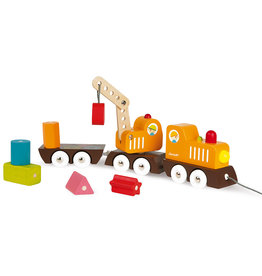 Janod Multi Colors Crane Train