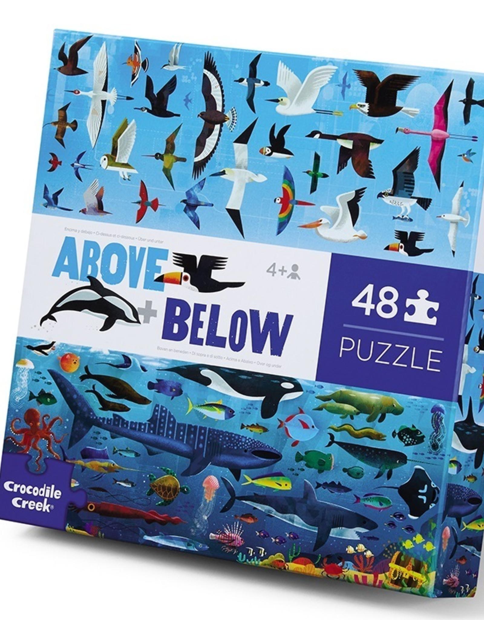 Crocodile Creek 48 pc Puzzle Above and Below: Sea & Sky