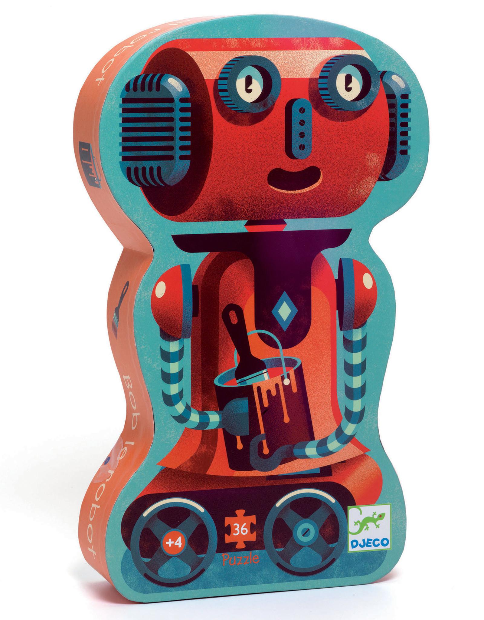 Djeco 36pc Silhouette: Bob the Robot