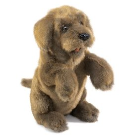 Folkmanis Puppet: Dog, sitting