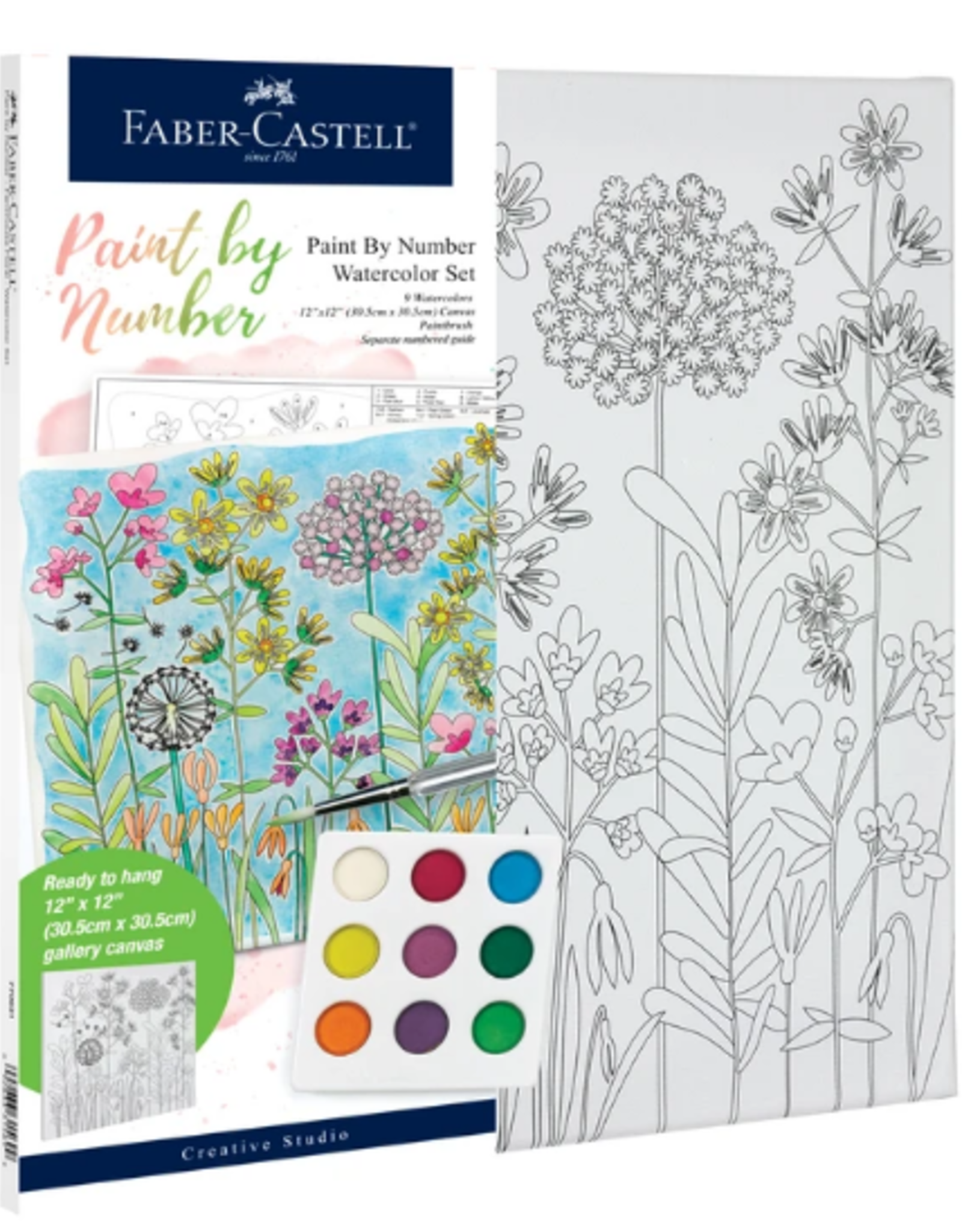 Faber-Castell Watercolor Paint by Number: Farm House