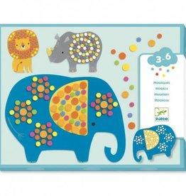 Djeco Le Petit Artist: Collage Soft Jungle Mosaic