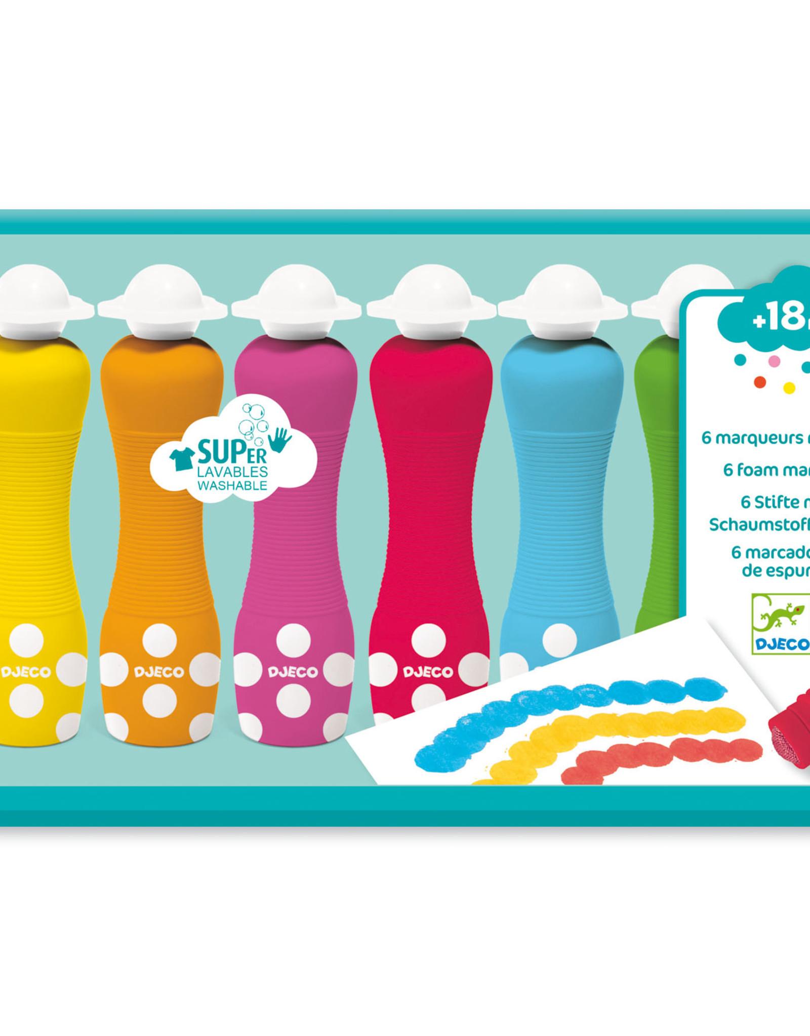 Djeco 6 Foam Markers
