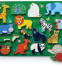 Crocodile Creek 16pc Wood Puzzle: Zoo
