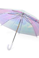 FCTRY Kids Holographic Umbrella - White Handle