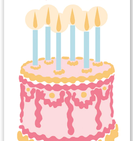 Rock Paper Scissors Enclosure Card: Birthday Cake