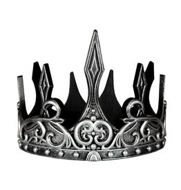 Creative Education Medieval Crown: Silver/Black