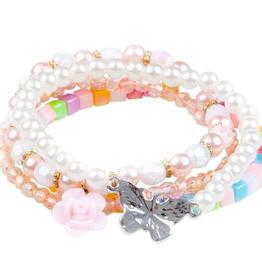Creative Education Pearly Butterfly 4 Pcs Bracelet Set