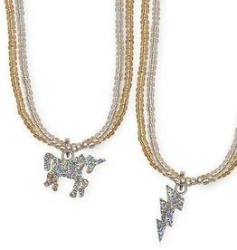 Creative Education Glitter Unicorn Lightning Necklace, Assorted