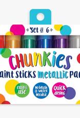 Ooly Chunkies Paint Sticks: Metallic Set of 6