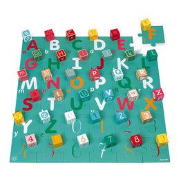 Janod Kubix 40 Letter + Number Blocks