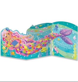 Peaceable Kingdom Mermaid Tri-Fold Card