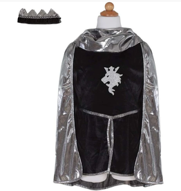 Creative Education Silver Knight With Tunic, Cape, & Crown, Size 5-6