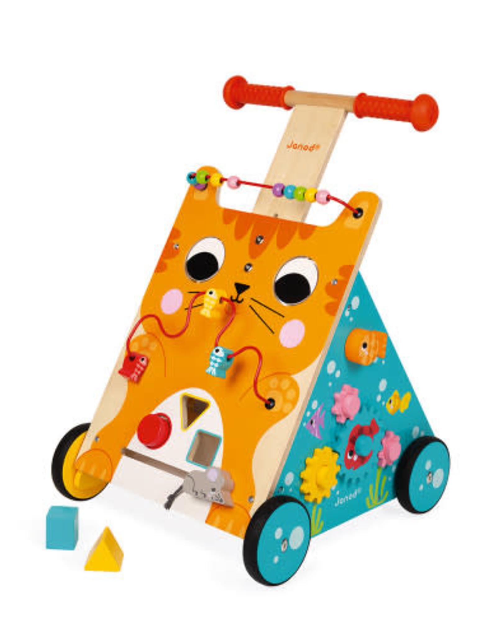 Janod Multi-Activities Cat Baby Walker