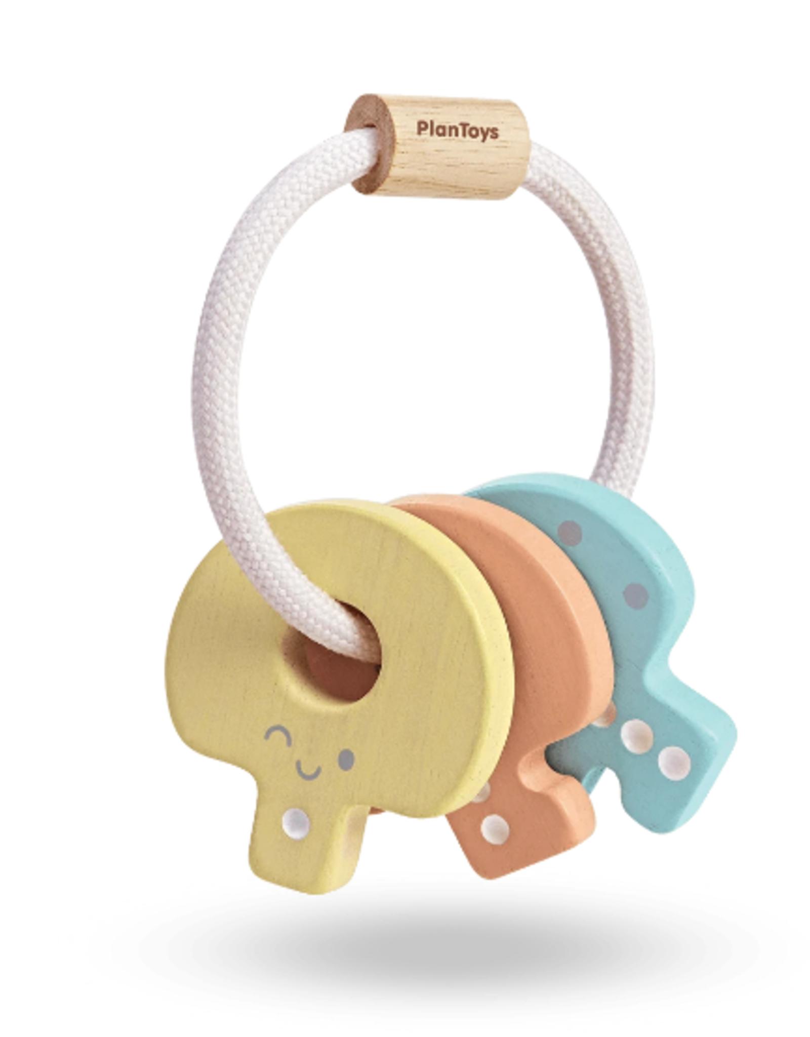 Plan  Toys Baby Key Rattle - Pastel