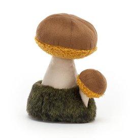 "Jellycat Wild Nature Boletus Mushroom 6"""