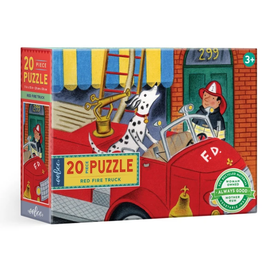 eeBoo 20pc Big Puzzle: Red Fire Truck