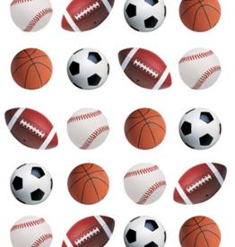 Paper House Mini Mixed Sports Balls Puffy Sticker