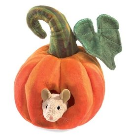 Folkmanis Puppet: Mouse in Pumpkin