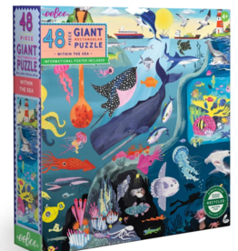 eeBoo 48pc-Puzzle: Within The Sea
