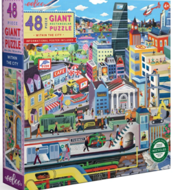 eeBoo 48pc-Puzzle: Within The City
