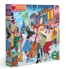 eeBoo 1000pc-Puzzle: Music In Montreal