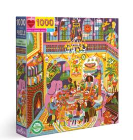 eeBoo 1000pc-Puzzle: Family Dinner Night