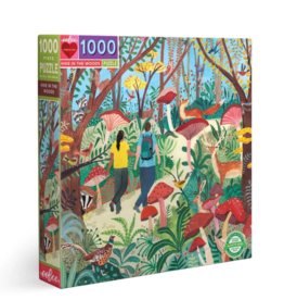 eeBoo 1000pc-Puzzle: Hike In The Woods